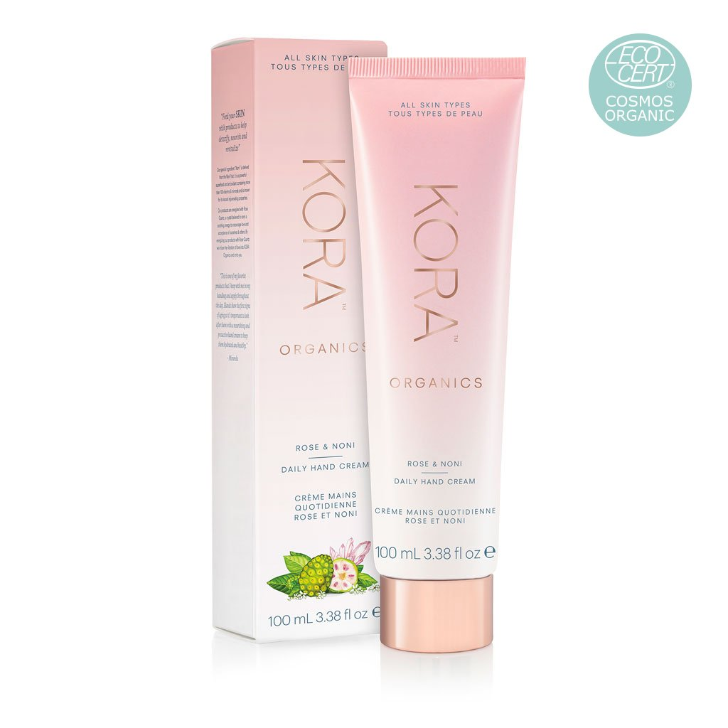 Rose & Noni Daily Hand Cream 100mL, Incredibly moisturising and nourishing certified organic daily hand cream with an aromatic blend of nature's essential oils designed to nurture and protect your hands and cuticles, leaving them feeling soft and smooth.