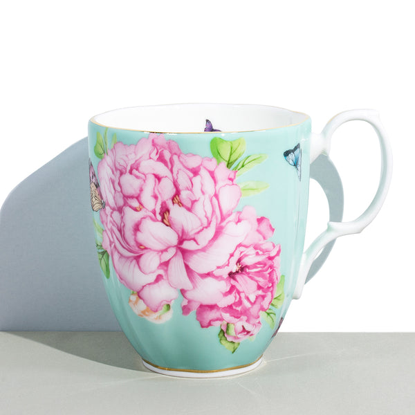 1 Royal Albert x Miranda Kerr Friendship Minty Green Vintage Mug | 400 mL / 13.5 fl oz