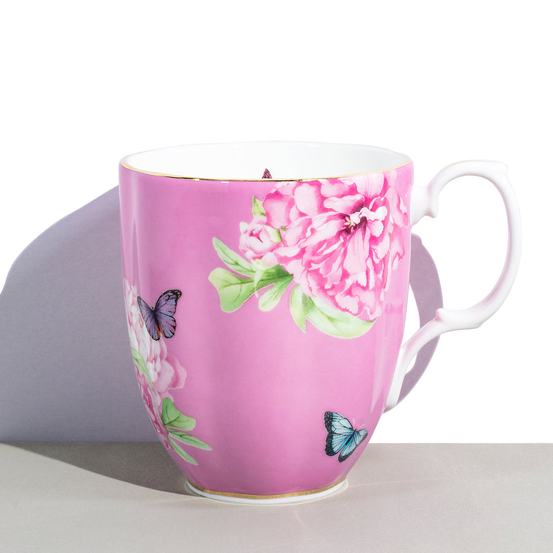 1 Royal Albert x Miranda Kerr Friendship Pink Vintage Mug | 400 mL / 13.5 fl oz
