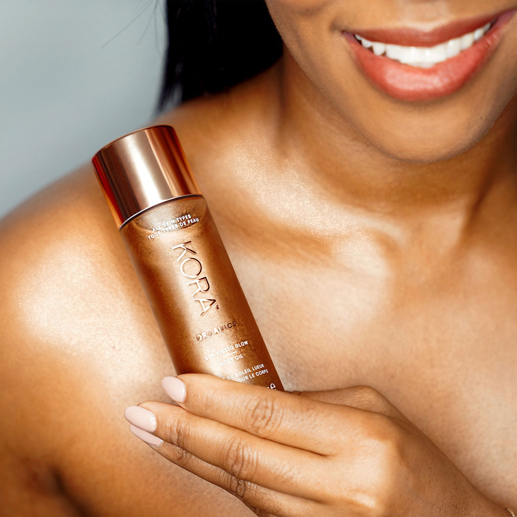 This natural body oil leaves skin nourished and feeling smooth.