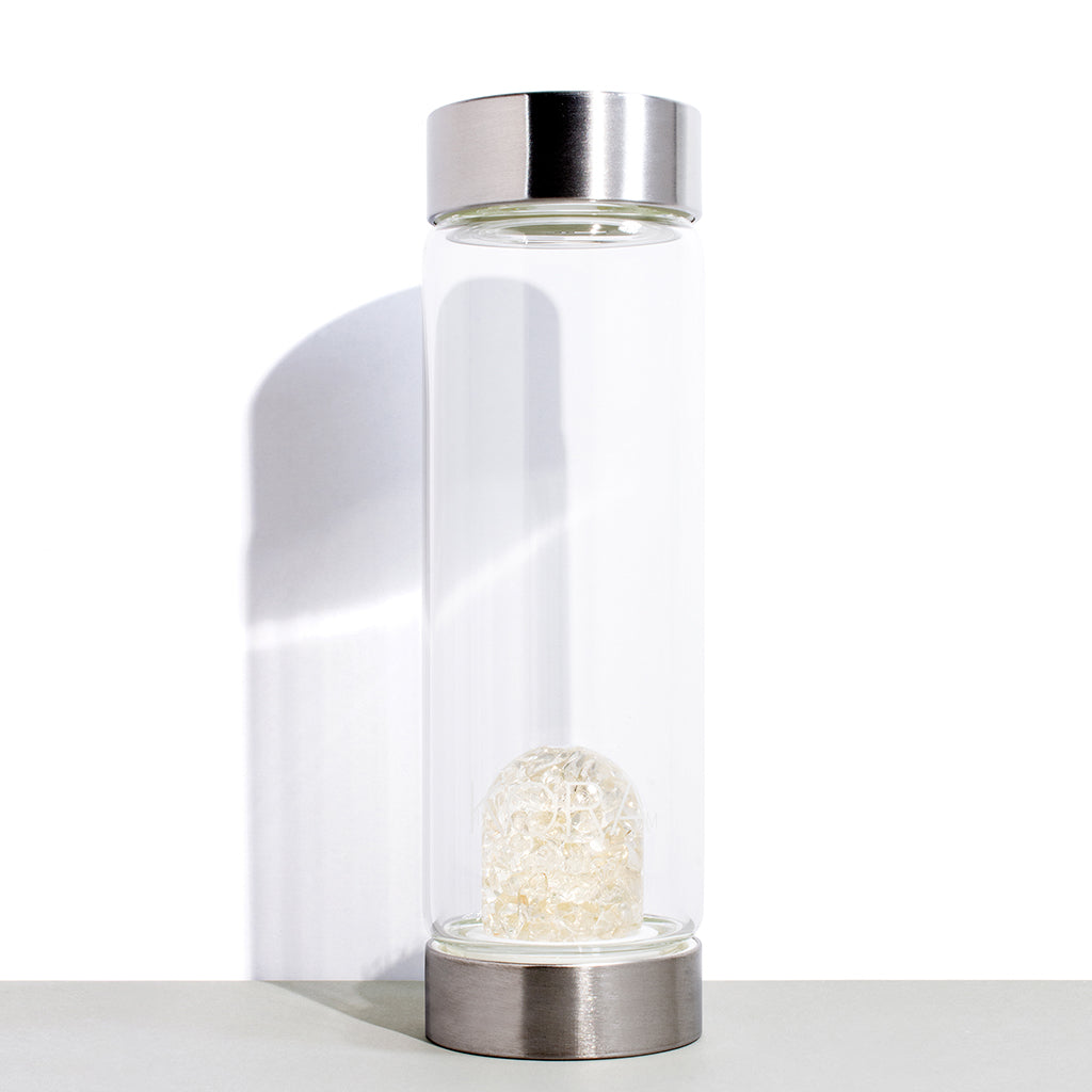 Clear Quartz Glass Water Bottle