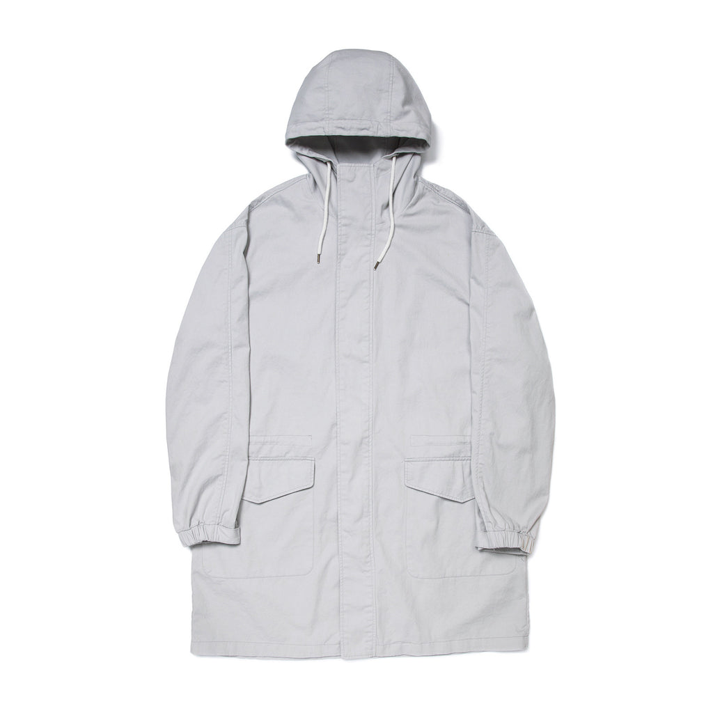 HOODED PARKA COAT IVORY