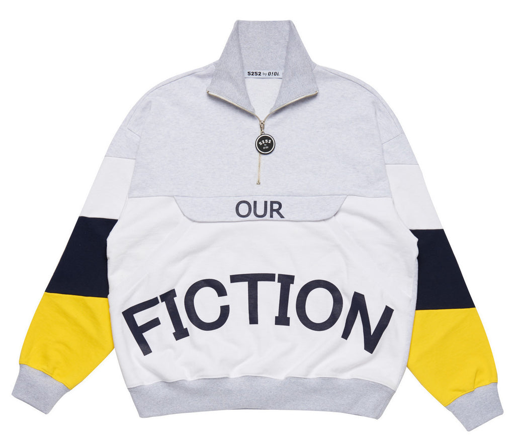 OUR FICTION HALF ZIPUP GREY
