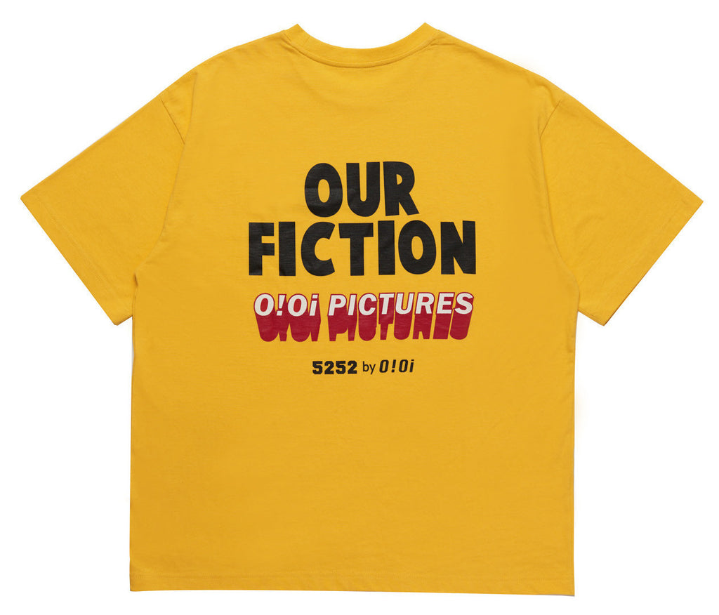 OUR FICTION SLOGAN T-SHIRT YELLOW