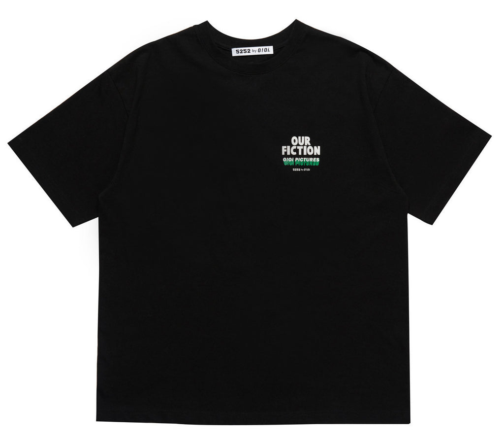 OUR FICTION SLOGAN T-SHIRT BLACK