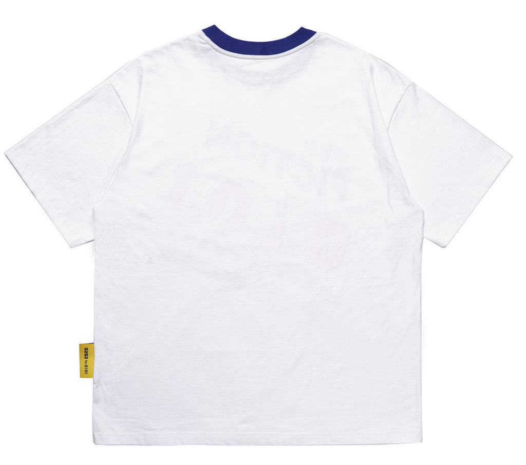 NECK LINE POINT T-SHIRT WHITE