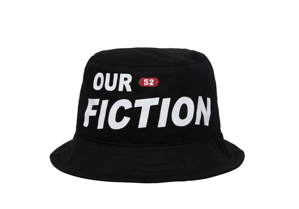 OUR FICTION BUCKET HAT BLACK