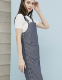 Denim Stripe Overall_Blue