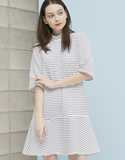 Stripe Flare Dress_White