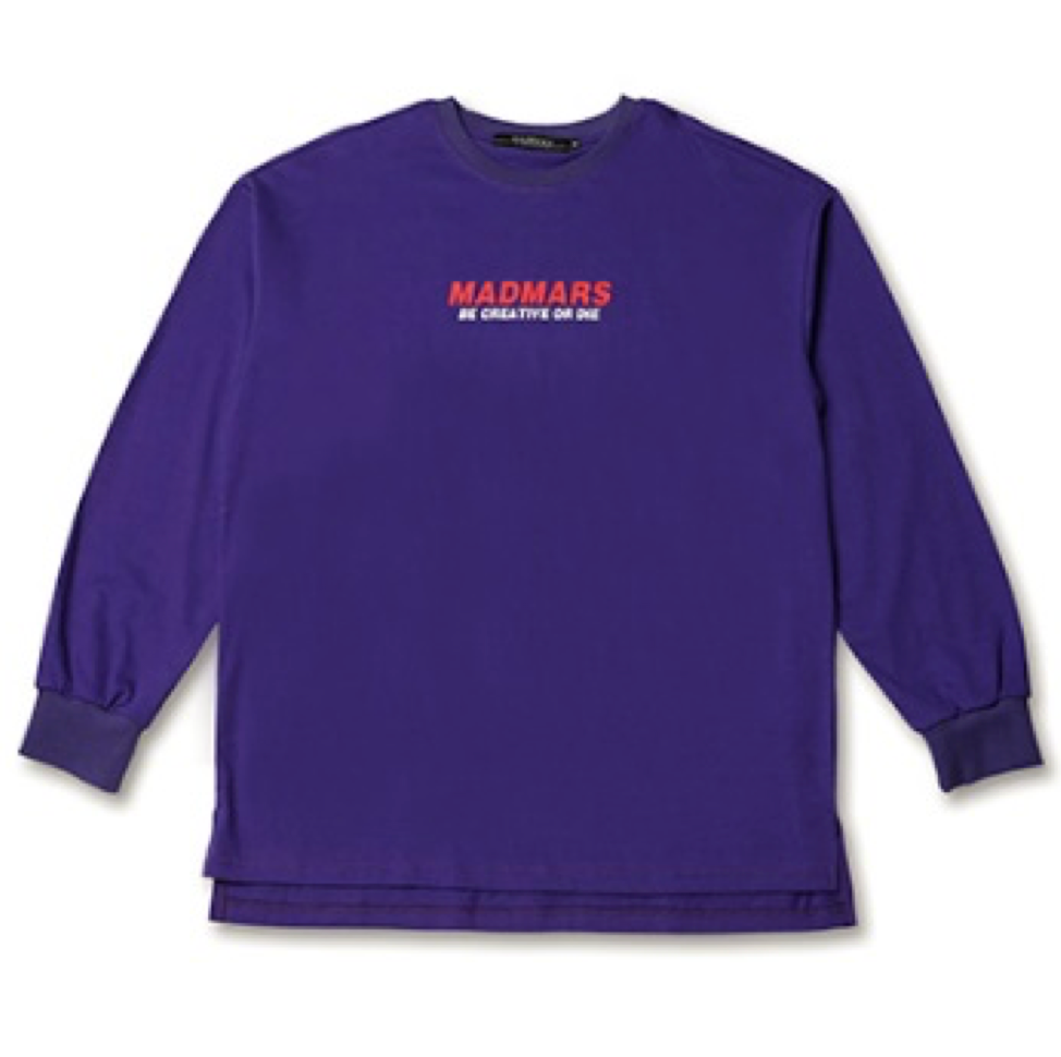 LOGO LONG SLEEVE SHIRTS PURPLE