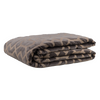 "Metallic Grill/ Chocolate Brown: Embroidered and quilted  velvet bed cover (96""*108"")"