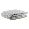 "Metallic Grill/ Cloud: Embroidered and quilted  velvet bed cover (96"" x 108"")"