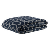 "Metallic Grill/ Fossil Grey: Embroidered and quilted  velvet bed cover (96"" x 108"")"