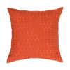 "Ombre Pebbles/ Jalapeno : Embroidered and quilted  cushion cover (16"" x 16"")"