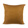 "Houndstooth/ Chocolate Brown: Silk embroidered cushion cover (16""*16"")"
