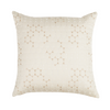 "Ombre Pebbles/ Cloud : Embroidered and quilted  cushion cover (16"" x 16"")"