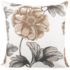 "Rose Garden/ Riviera Sand: Onset Linen printed cushion cover (20"" x 20"")"