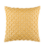 "Origami/ Cream Beige: Faux silk textured cushion cover (16"" x 16"")"