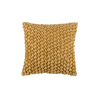 "Mosaic pyramids/ Gold Thread: Textured faux silk cushion cover (12""*12"")"