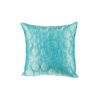 "Latika/ Empress Teal: Silk quilted cushion cover (12""*12"")"