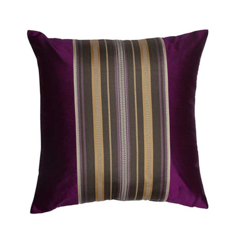 "Amazon/Grapes: Silk woven cushion cover 16"" x 16"""