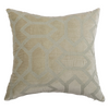 Beige Velvet Embroidered  Designer Cushion Cover | Onset Designs