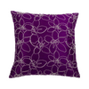 Purple Embroidered  Silk  Designer Cushion Cover | Onset Designs