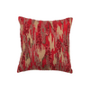 Red Embroidered Polyster Designer Cushion Cover | Onset Designs