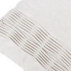 "Stripe and fold/ Cloud: Hand textured cotton cushion cover (16"" x 16"")"