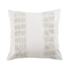 Silver Textured Cotton Designer Cushion Cover | Onset Designs