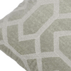 "Velvet grid/ Fossil Grey: Velvet embroidered cushion cover (18"" x 18"")"