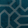 "Velvet grid/ aqua bay: Velvet embroidered cushion cover (18""*18"")"