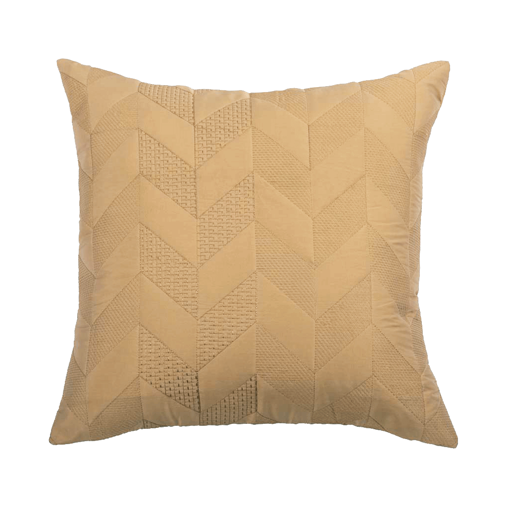 Beige Faux Silk  Designer Cushion Cover | Onset Designs