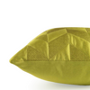 "Meanders/ Lime: Faux silk quilted cushion cover (16"" x 16"")"