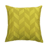 Lime Embroidered  Silk  Designer Cushion Cover | Onset Designs