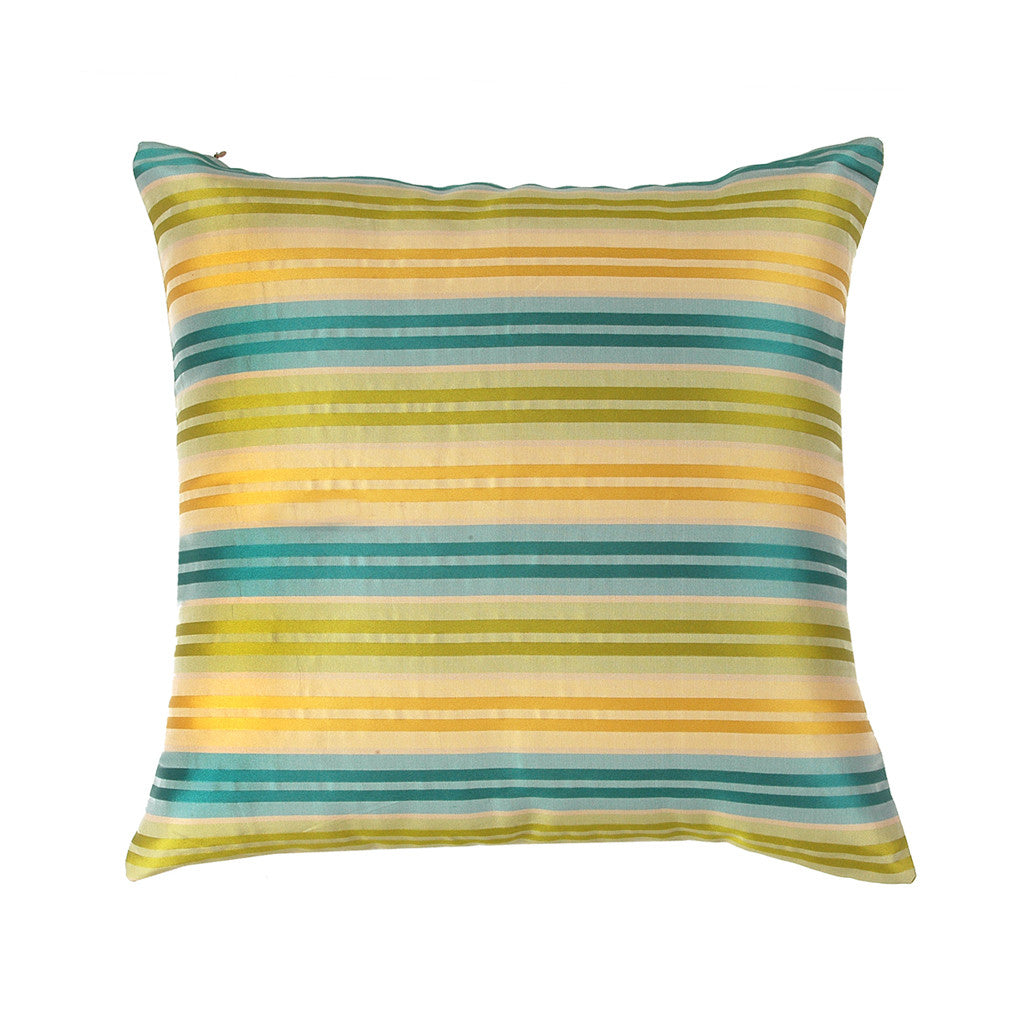 "Ganges/Meadows : Silk woven cushion cover (16"" x 16"")"