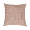 "Ombre Pebbles/ Expresso : Embroidered and quilted  cushion cover (16"" x 16"")"