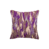 "Shimmer camouflauge/ Checkmate: Hand Embroidered faux silk cushion cover (12"" x 12"")"
