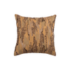 "Shimmer camouflauge/ Chocolate brown: Hand Embroidered faux silk cushion cover (12""*12"")"