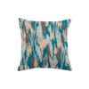 "Shimmer camouflauge/ Cloud: Hand Embroidered faux silk cushion cover (12"" x 12"")"