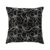 "Merrell/ Petunia: Hand embroidered silk cushion cover (16"" x 16"")"