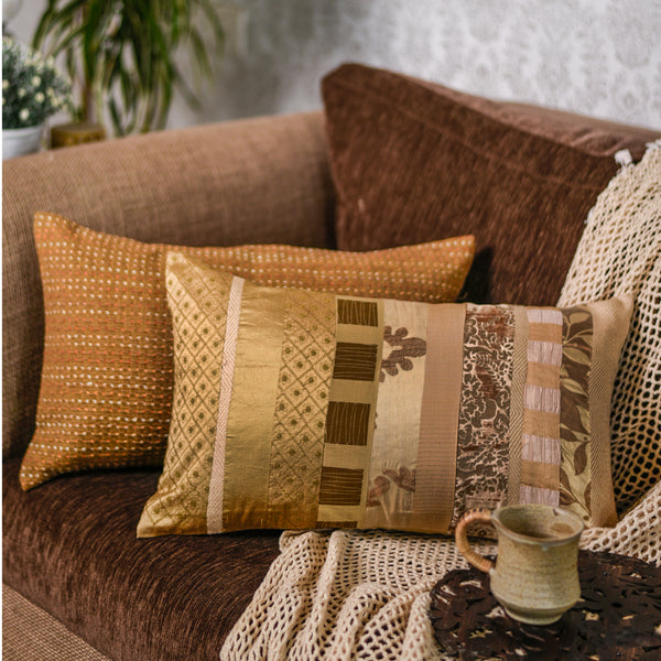 The Cushion Project Set of 2  Golds Creams Cushion Covers