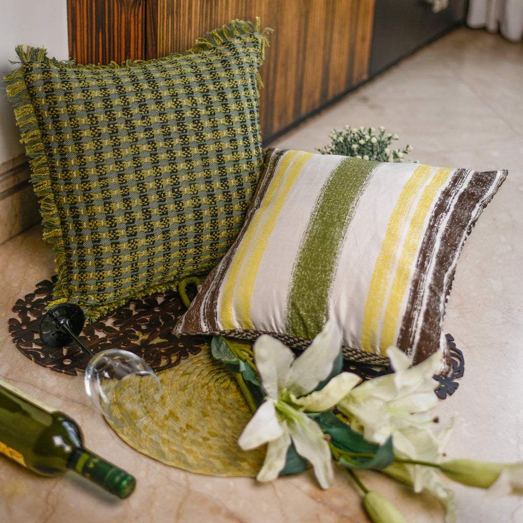 The Cushion Project Set of 2 Foliage Cushion Covers