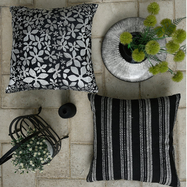 The Cushion Project Set of 2 Ebony and Ivory  Cushion Covers