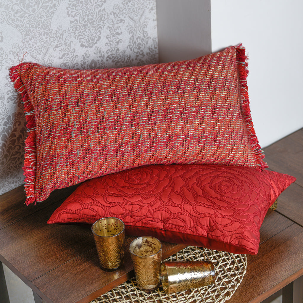 The Cushion Project Set of 2  Red Cushion Covers