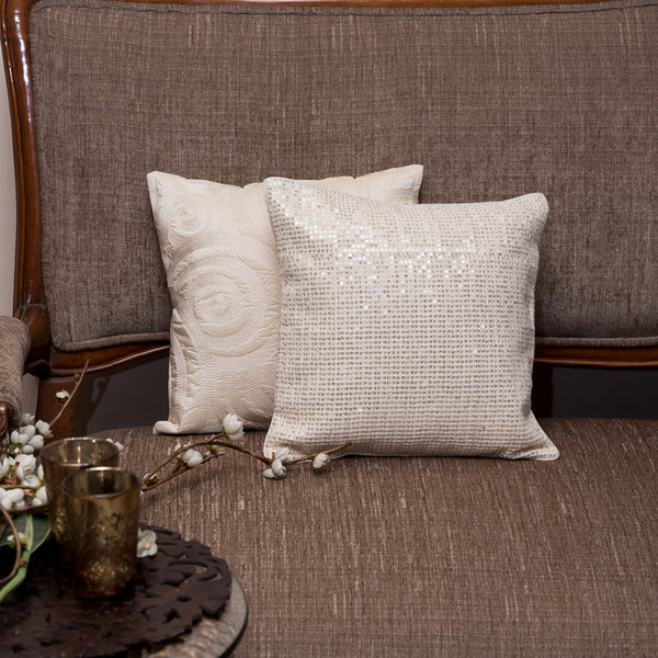 THE CUSHION PROJECT Set of 2 White Cushion Covers