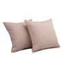 "Set of 2 Ombre Pebbles/ Blush: Embroidered and quilted  cushion cover (16"" * 16"")"