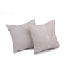 "Set of 2 Banina/ Chocolate brown: Polyester quilted cushion cover (16"" * 16"")"