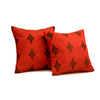 "Set of 2 Banina/ Off White: Polyester quilted cushion cover  (16"" * 16"")"