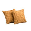"Set of 2 Diamonde/ Aqua Bay: Faux silk quilted cushion cover (16"" * 16"")"